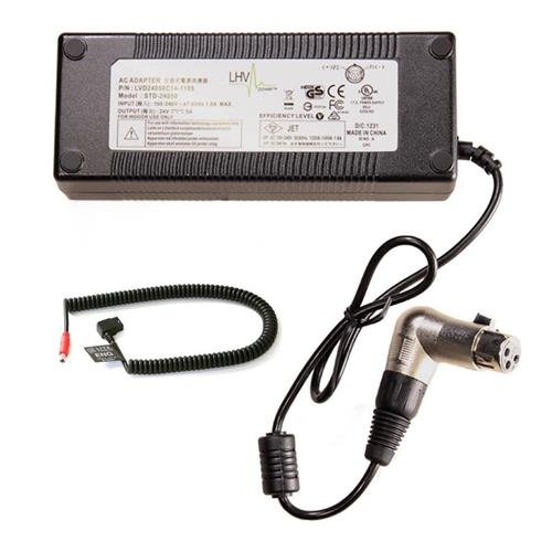 Litepanels AC Power Supply for Sola 6 and Inca 6 LED Fresnels Sola ENG and Croma 2 Pin D-Tap Power Cable, Coiled