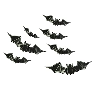 SUPXOV 8 Piezas murciélago Tatuajes de Pared PVC 3D murciélago ...