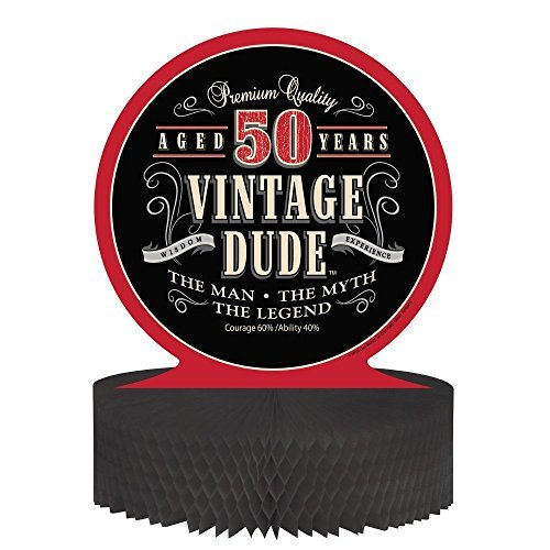 Creative Converting Vintage Dude 50th Birthday Centerpiece with Honeycomb Base (3-Pack) for $<!--$9.81-->
