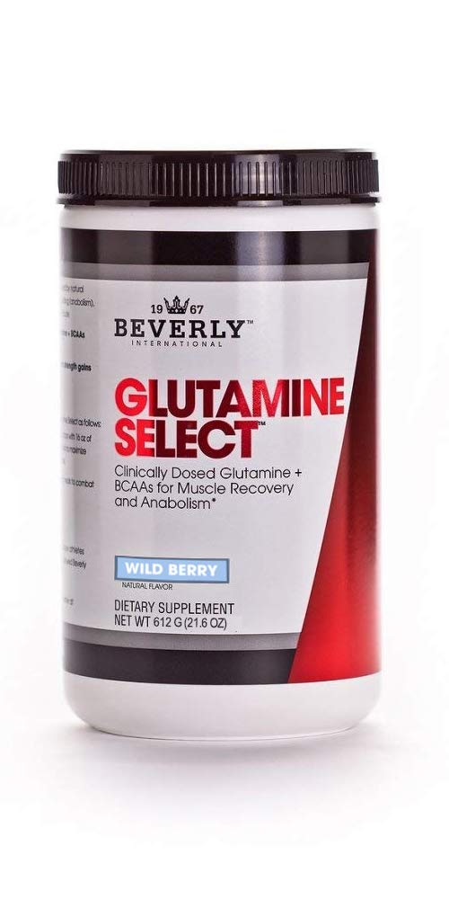 Beverly International Glutamine Select, 60 Servings. Clinically dosed glutamine and BCAA Formula for Lean Muscle and Recovery. Sugar-Free. Great for Keto, Fasting, Weight-Loss Diets. by Beverly International