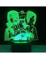 3D anime illusion nattlampa – Naruto Sasuke Anime karaktär LED nattlampa – med fjärrkontroll – 7 färger – sovrumsdekoration bordslampa – barn jul födelsedagspresenter