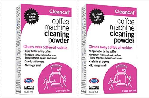 Urnex Cleancaf 2-Box Home Coffee and Espresso Equipment Cleaner, 6 Packets (Equipment Home Coffee)