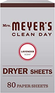 product image for Mrs. Meyer's Clean Day Dryer Sheets, Softens Fabric, Reduces Static, Cruelty Free Formula, Lavender Scent, 80 Count