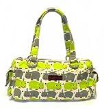 Bungalow360 Vegan Cotton Satchel Purses-NEW 2013 Patterns!-Shark, Flamingo, Alligator (Hippo), Bags Central