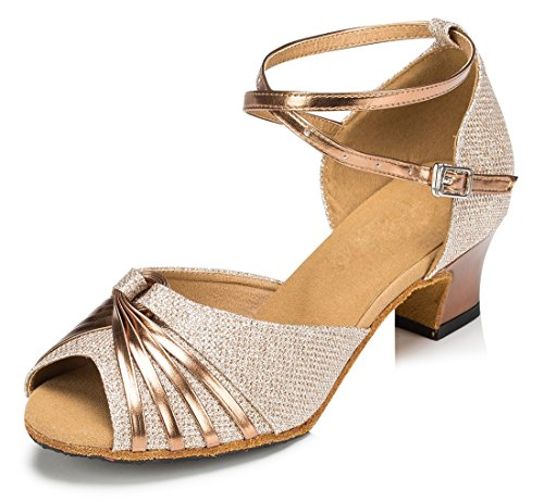 MGM-Joymod - Jazz Y Contempóraneo de Sintético Mujer Style2 Gold/5cm Heel