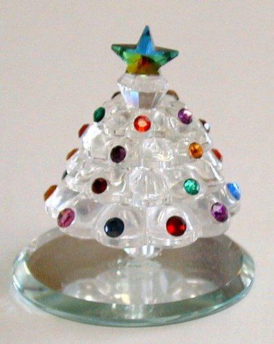 - Crystal Christmas Tree Made with Swarovski Crystal