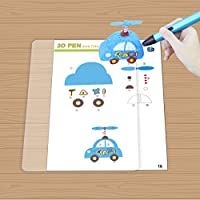 2017 Design 3D Pen Paper Mold for 3D Printing Pen , 3D Drawing and Doodle Model Making Arts & Crafts Drawing , Color printing pattern(15 Pages,30 different patterns) by TIPEYE