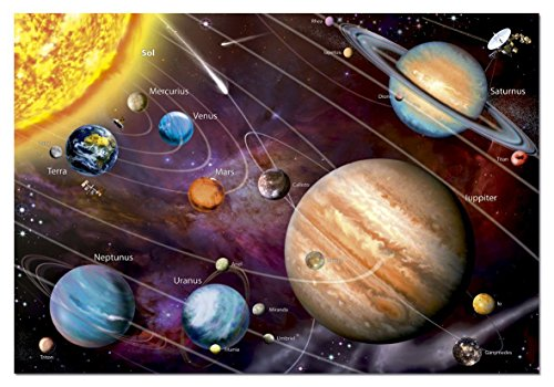 Educa Solar System 14461 Neon Series Jigsaw Puzzle (1000 Piece), One Color