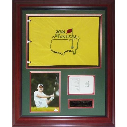 Danny Willett Autographed 2016 Masters Champion Deluxe Framed Flag Piece - JSA