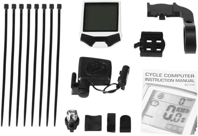 Velocímetro de Ciclo de Bicicleta Ciclismo inalámbrica del ordenador bici de la computadora de la cadencia del cycling computer a prueba de lluvia con retroiluminación de LCD Pantalla de Velocidad par: Amazon.es: