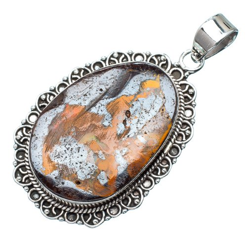 """Ana Silver Co Tiger Iron 925 Sterling Silver Pendants 2"""""""
