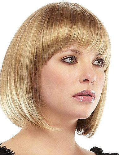 xzl Pelucas de la manera nuevo peinado bob 1 superior monofilamento pelo remy virginal humano peluca