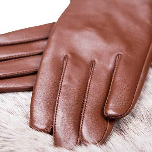 Da Varietà In Caldo Chic Il Fingers Di Donna Pelle Ragazza Leggero Coffee Una Con Hx Fashion Guanti Fit Colori gEHnY