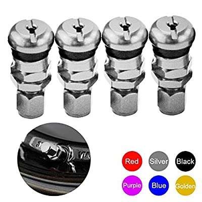 PTNHZ RACING 4PCS Rays Volk Racing Forged Aluminum Valve Stem Caps Tire Wheels Rims (Silver): Automotive