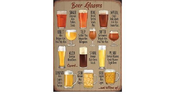 Cerveza copas cerveza Pub Bar Man Cave cobertizo Viejo Publicidad pequeño dangler: Amazon.es: Hogar
