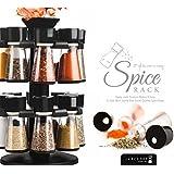 16 Jar Revolving Spice / Masala Rack / Masala Box / Spice Reck (Black)