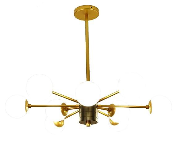 Modern Pendant Light Chandelier Lighting G4 45w Glass Sphere 9
