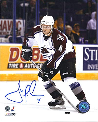 John Michael Liles Autographed/Signed Colorado Avalanche 8x10 Photo