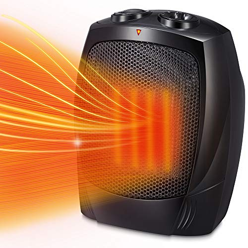 Kismile Small Space Heater Electric Portable Heater Fan for Home and Office Ceramic Fan Heaters with Adjustable…