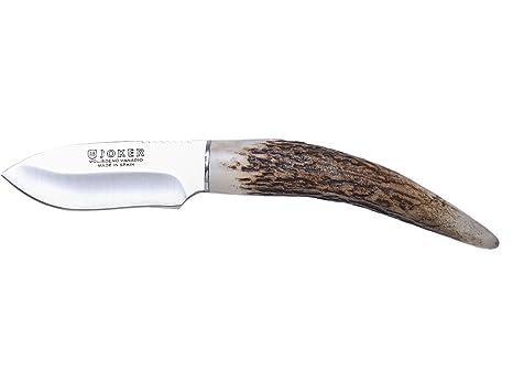 Joker CC57 Outdoor Cuchilleria CC57-Cuchillo de Monte para Cuello Colgante, puño en asta de Ciervo, Hoja, Unisex, 7,5 cm