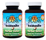 Cheap Yerba Prima Great Plains Bentonite Plus Herbal Detox, 100 Veg Caps (Pack of 2)