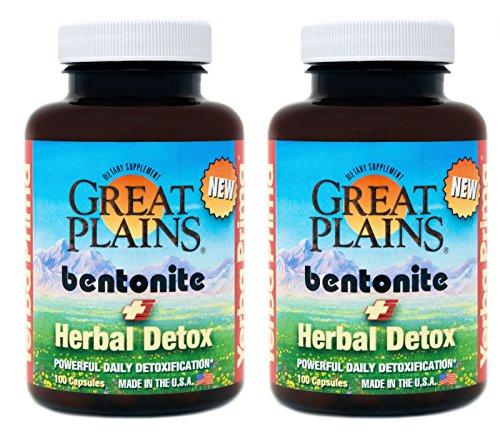 Yerba Prima Bentonite Plus Herbal Detox  100 Veg Caps  Pack Of 2