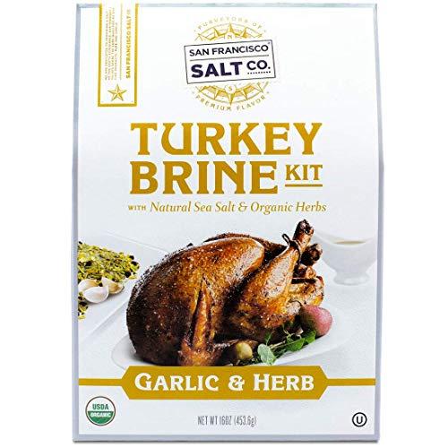 Organic Turkey Brine Kit - 16 oz. Garlic & Organic Herb Blend by San Francisco Salt Company