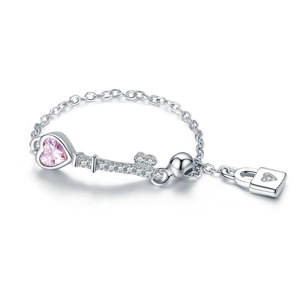 Bijoux - Llavero de Plata de Ley 925 con diseño de corazón y ...
