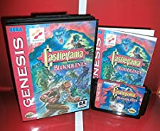 Castlevania - Bloodlines NTSC-U Available US Cover with Box and Manual For Sega Megadrive Genesis Video Game Console MD card - Sega Genniess - Sega Ninento, 16 bit MD Game Card For Sega Mega