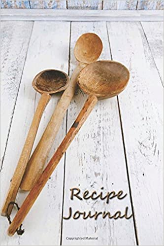 Book Recipe Journal: Blank Cooking Journal, 6x9-inch, 150 Recipe Pages