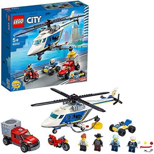 LEGO 60243 - Verfolgungsjagd mit dem Polizeihubschrauber, City, Bauset