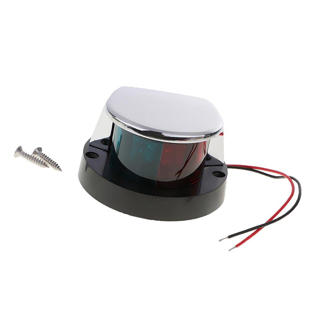 MagiDeal LED Deckslicht Navigationslicht Positionsleuchte Bi-Farbe bis 2 Meils f/ür Boot DC 12V