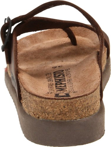 Mephisto Womens Helen Brown Leather Sandals 41 EU