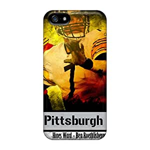 Protector Cell-phone Hard Covers For Iphone 5/5s With Allow Personal Design High-definition Pittsburgh Steelers Image DannyLCHEUNG