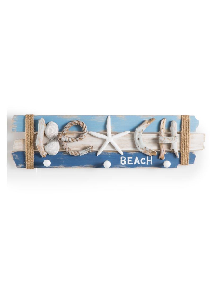 MONTEMAGGI Perchero Texto Beach con Conchas y Estrella 59 x ...