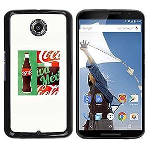 Paccase / SLIM PC / Aliminium Casa Carcasa Funda Case Cover para - Drink Brand White Popular - Motorola NEXUS 6 / X / Moto X Pro