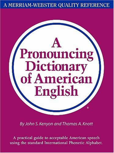 A Pronouncing Dictionary Of American English Import It All