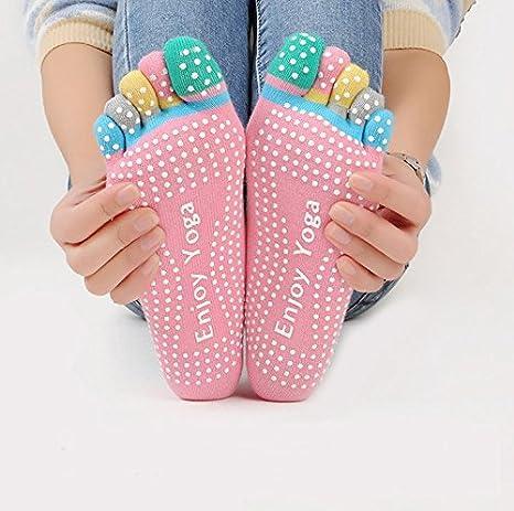 calze antiscivolo con dita YogaAddict ideali per yoga e pilates