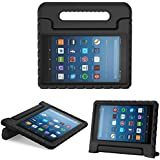 MoKo Case for All-New Fire HD 8 - Kids Shock Proof Convertible Handle Light Weight Super Protective Stand Cover for Amazon Fire HD 8 (8th Gen, 2018 / 7th Gen, 2017 / 6th Gen, 2016), Black