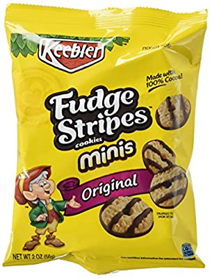 Fudge Shoppe Cookies, Mini Fudge Stripes, 2-Ounce Bags (Pack of 36) from Keebler