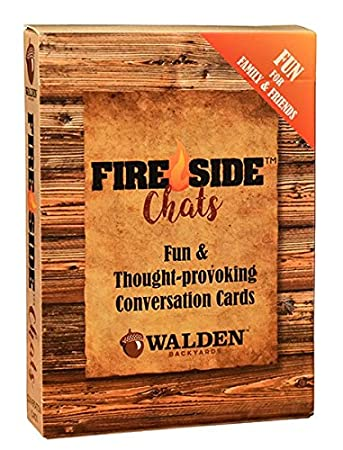 Conversation Starters Fire-Side Chats by Walden Sparking Great Conversation  Around The Fire - Standard Playing Cards for All Card Games