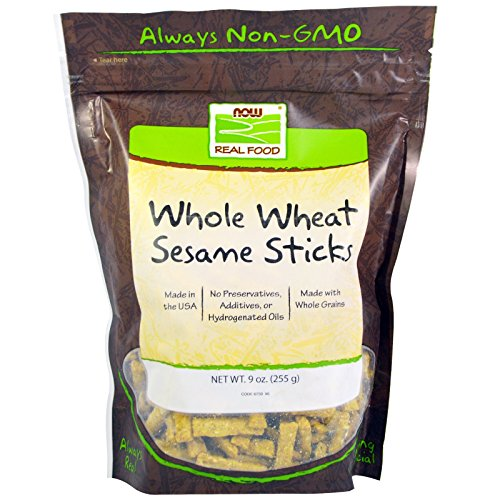 Now Foods, Real Food, Whole Wheat Sesame Sticks, 9 oz (255 g) - 3PC (Foods Sesame Sticks)