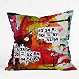 Deny Designs Sophia Buddenhagen Bright Bingo 2 Throw Pillow, 16 x 16