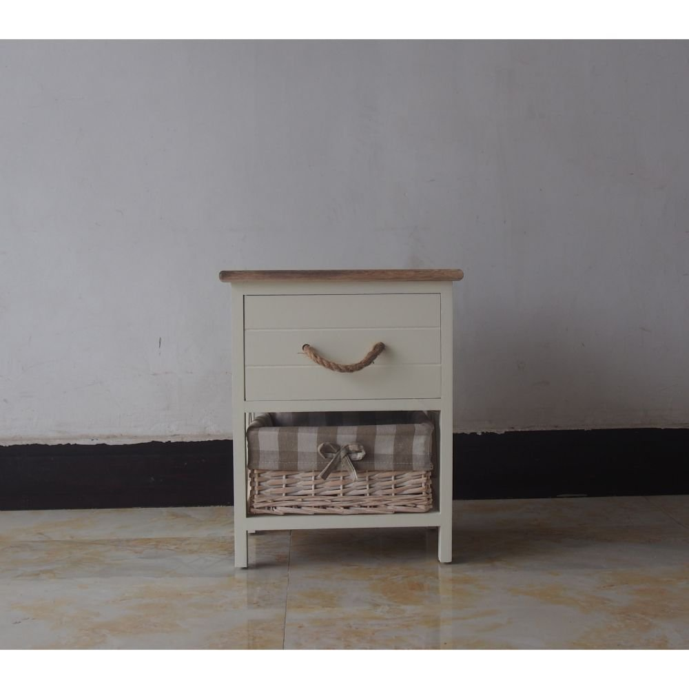 The Urban Port Antique Single Drawer Wood Cabinet