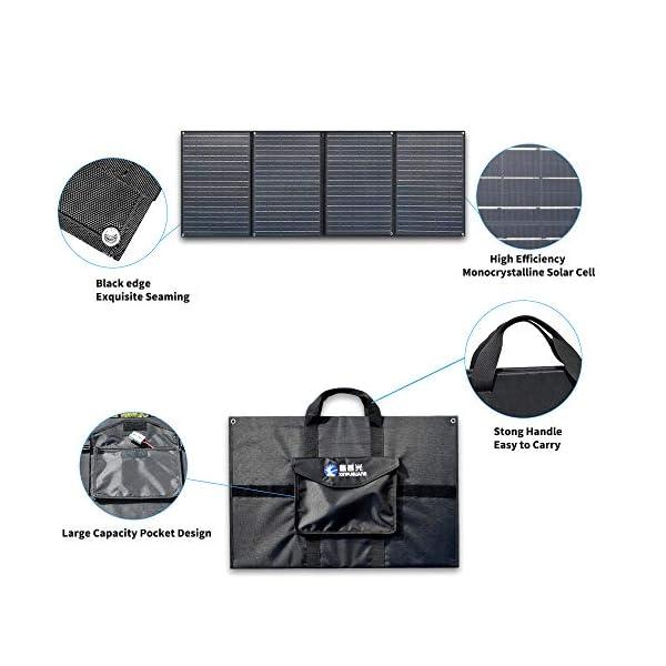 510Bzmd9oHL XINPUGUANG 200W (50Wx4pcs) 20V faltbares Solarpanel-Ladegerät MonoCrystalline Silicon Optional für Camper Zelt Wohnmobil…