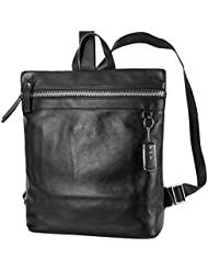 UIYI Mens Leather Durable Lightweight Travelling Daypack