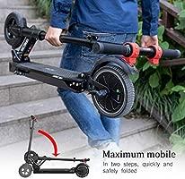 RCB Patinete Eléctrico Scooter eléctrico Plegable Ultra Ligero con Batería 7.5Ah Motor Potente Velocidad Máxima 25KM / H Altura Ajustable Neumático ...