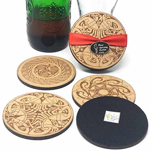 (Celtic Coasters. Irish coaster set with Celtic designs.Knotwork, Book of Kells, Durrow,Celtic patterns.)