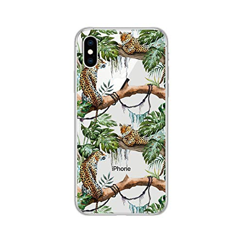 - iPhone XR Case, Peachy Life Cute Clear Animal Style Soft TPU Rubber Case, Compatibility for iPhone XR (Jungle Jaguar)