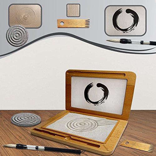 Meditation Sand Zen Garden and Drawing Board (7-Piece Set